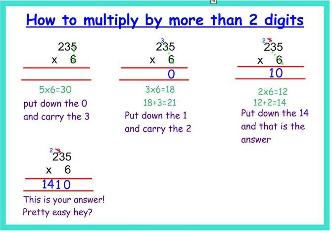 multiply three digit numbers